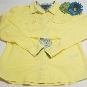 Tommy Hilfiger Shirt, Large, ☀️ Yellow